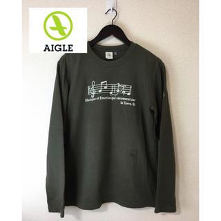 エーグル(AIGLE)のAIGLE エーグル 裏起毛 ロンT 長袖Tシャツ カーキ オリーブ 緑 S(Tシャツ/カットソー(七分/長袖))
