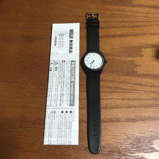 ムジルシリョウヒン(MUJI (無印良品))の無印良品 腕時計 ソーラーウォッチ 黒(腕時計)