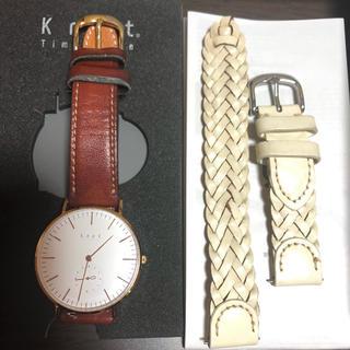 ノット(KNOT)のknot ノット 時計 ベルト2本付き(腕時計)