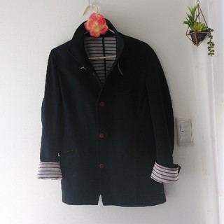タケオキクチ(TAKEO KIKUCHI)のネイビースプリングジャケット(ノーカラージャケット)