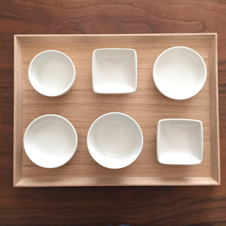 MUJI (無印良品) - 無印良品 角型トレー 小皿 小鉢 お皿 セット お食い初め 食器