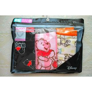 ディズニー(Disney)の新品♥プーさん 綿混ショーツ3枚 セット ディズニーL コットン レディース(ショーツ)