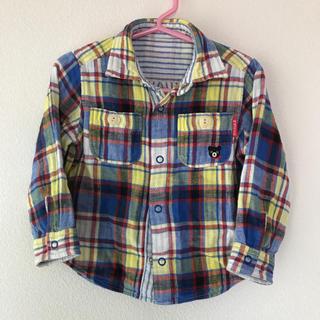 ダブルビー(DOUBLE.B)の90cm ダブルビー ガーゼ風 チェックシャツ  ミキハウス(Tシャツ/カットソー)