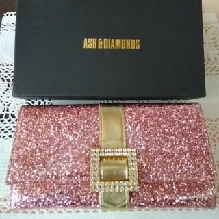 アッシュアンドダイアモンド(ASH&DIAMONDS)のASH&DIAMONDS♥グリッター長財布♥ピンク(財布)