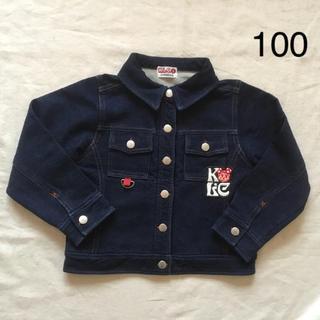 ケーエルシー(KLC)のニットデニムジャケット 100(ジャケット/上着)