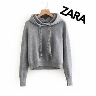 ZARA - ZARA シャイニースウェットパーカー