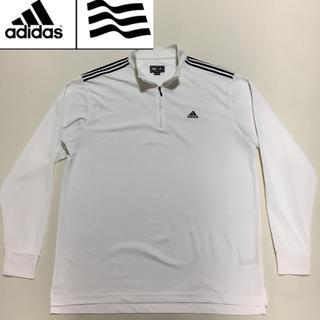 アディダス(adidas)のアディダスゴルフ★アノラック ZIP ジャージ ホワイト XOサイズ(ウエア)