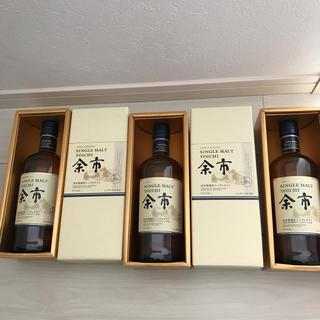 ニッカウイスキー(ニッカウヰスキー)の余市 ノンビンテージ 箱付き 3本(ウイスキー)