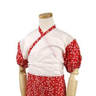 新品送料込み ワンピース肌着女の子用 赤 サイズ100 七五三 浴衣 R39(和服/着物)