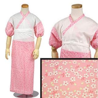 新品送料込み 子供用肌着裾よけセット 女の子 7歳用 ピンク 七五三に R35(和服/着物)