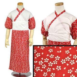 新品送料込み 子供用肌着裾よけセット 女の子 7歳用 赤 七五三に R34(和服/着物)