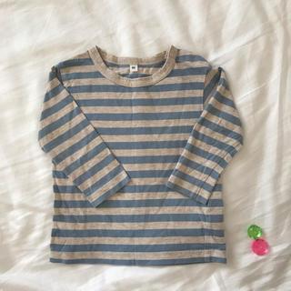 MUJI (無印良品) - ☆無印良品 ボーダーTシャツ 80サイズ☆