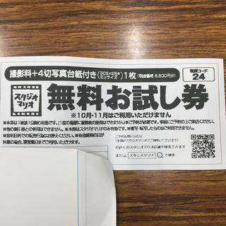 キタムラ(Kitamura)のカメラのキタムラ スタジオマリオ 無料お試し券(ショッピング)