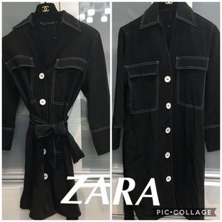 ZARA - 新品 ZARA バイカラー ワンピース スタッフ着用