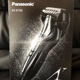 パナソニック(Panasonic)のパナソニックラムダッシュメンズシェーバー3枚刃お風呂剃り可黒 ES-ST2Q-K(メンズシェーバー)