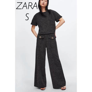 ZARA - 【新品・未使用】ZARA ボタン付きワイドパンツ Tシャツ セット S