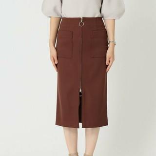 ノーブル(Noble)のNoble ダブル クロス フープ ジップスカート(ひざ丈スカート)