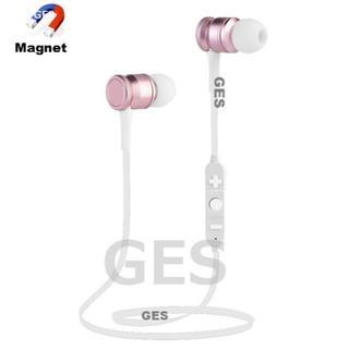 ★ローズゴールド マグネット付 Bluetooth ワイヤレス イヤホン