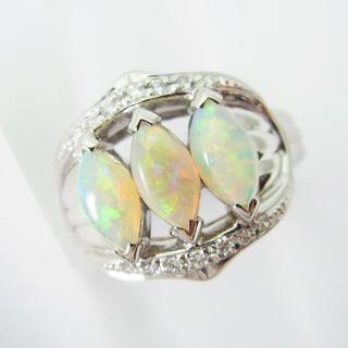 Pt900 オパール ダイヤモンド リング 11号[f393-6] (リング(指輪))