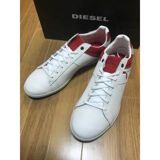 DIESEL - ディーゼル  レザースニーカー  ホワイト43