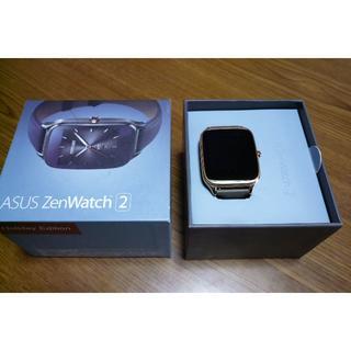 エイスース(ASUS)のスマートウォッチ ASUS ZenWatch2 WI501Q ハンズフリー通話可(腕時計(デジタル))