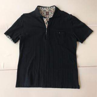 タケオキクチ(TAKEO KIKUCHI)の【美品】タケオキクチ ポロシャツ 半袖 メンズMサイズ ネイビー(ポロシャツ)