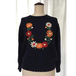 チャイルドウーマン(CHILD WOMAN)のCHILD WOMAN  花柄ニット セーター(ニット/セーター)