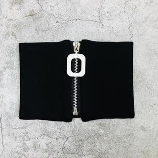 新品 ネックバンド スクエアファスナー ブラック(ネックウォーマー)