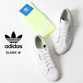 アディダス(adidas)の新品未使用!【アディダス ネオンイエロー靴下】(ソックス)