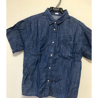 ジーユー(GU)のGU◆半袖デニムシャツ(シャツ/ブラウス(半袖/袖なし))