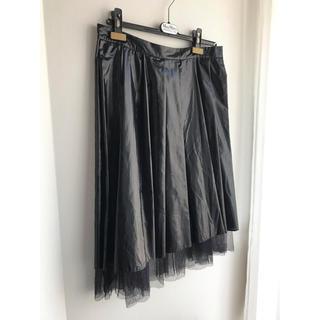 クリツィア(KRIZIA)の42サイズ KRIZIA made in ITALY ブラック スカート(ひざ丈スカート)