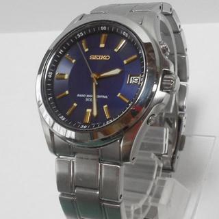 セイコー(SEIKO)のSEIKOソーラー電波時計◎ネイビー×ゴールド◎セイコー稼働品7B22-0AY0(腕時計(アナログ))