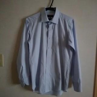 トランスコンチネンツ(TRANS CONTINENTS)のトランスコンチネンツ メンズ ビジネスシャツ ブルー Yシャツ Mサイズ(シャツ)