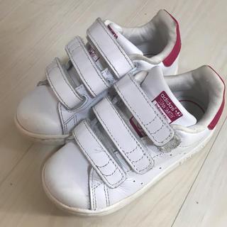 adidas - アディダス スタンスミス 14.5 ピンク キッズ 中古