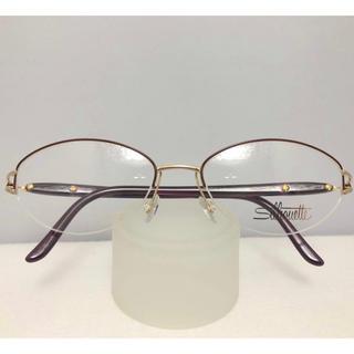 シルエット(Silhouette)のシルエット オーストリア製 フォーマル 軽い 眼鏡 フレーム 紫 金 メガネ(サングラス/メガネ)