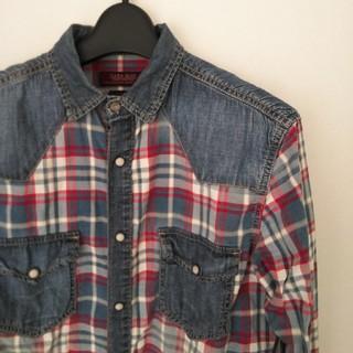 ザラ(ZARA)のZARA MAN・デニムチェックシャツ・サイズS(シャツ)