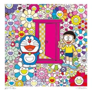 第1弾 村上隆 × 藤子・F・不二雄 コラボ版画 お花畑の中の どこでもドア(版画)