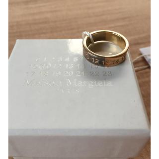 マルタンマルジェラ(Maison Martin Margiela)の値下18AW新品 マルジェラ ナンバリング ロゴ ツートーン リング(リング(指輪))