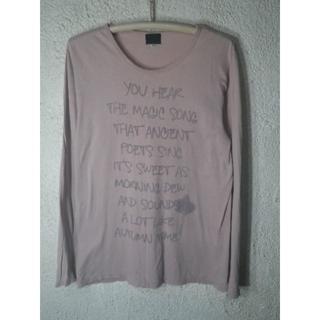 タケオキクチ(TAKEO KIKUCHI)の3354 タケオキクチ  長袖 文字 プリント デザイン tシャツ(Tシャツ/カットソー(七分/長袖))
