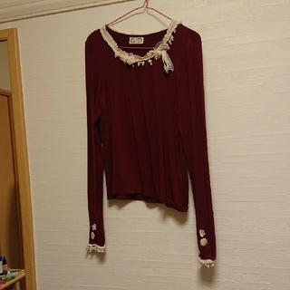 カワイイ(cawaii)の首元レースカットソー(カットソー(長袖/七分))