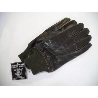 ザリアルマッコイズ(THE REAL McCOY'S)のリアルマッコイズ A-10 レザーグローブ カーキ(手袋)