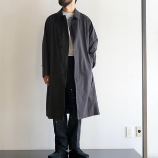 コモリ(COMOLI)のcomoli  バルカラー コート(ステンカラーコート)