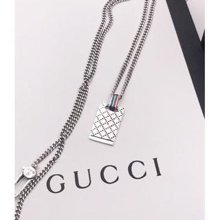 グッチ(Gucci)のグッチ GUCCI Gロゴ プレート ロング ネックレス(ネックレス)