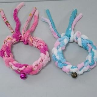 猫の首輪(ピンクor水色)(リード/首輪)