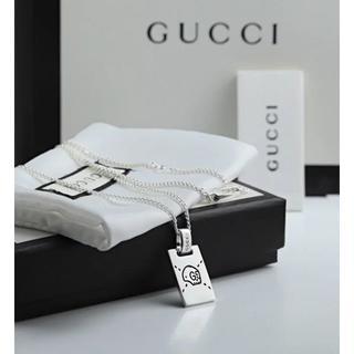 グッチ(Gucci)のGUCCI グッチ プレート シルバー ネックレス(ネックレス)
