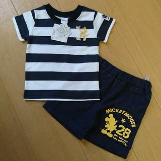 ディズニー(Disney)のDisney ミッキー シャツ ズボン 90㎝(Tシャツ/カットソー)