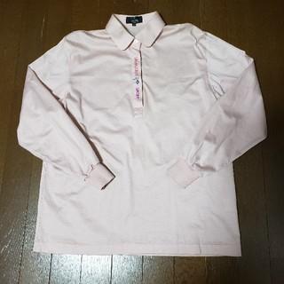 トラサルディ(Trussardi)のTRUSSARDI SPORT ピンクの長袖ポロシャツ(ポロシャツ)
