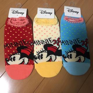 ディズニー(Disney)のキャラクター靴下 ディズニー ミニー 3足セット(ソックス)
