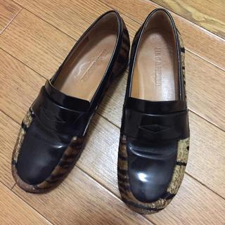 ジルサンダー(Jil Sander)のジルサンダー ハラコ 靴(ローファー/革靴)