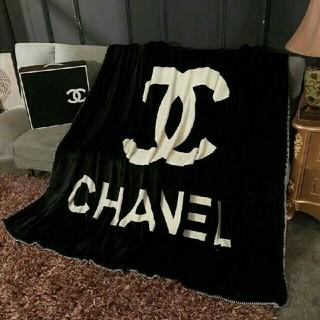 シャネル(CHANEL)のCHANEL シャネルロゴ ブランケット、厚手、毛布(毛布)